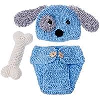 Recién Nacidos fotografía Props Lovely Dog Disfraz Juego Stricken Studio Fotografía