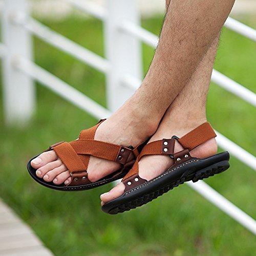 Xing Lin Sandali Estivi Traspirante Scarpe Uomo _ Nuovi Uomini Casuale Sandali Uomo Scarpe Da Spiaggia Traspirante Sandali Scarpe Uomo Marea brown