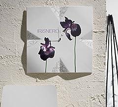 Idea Regalo - Orologio da parete Angolo IRIS NERO