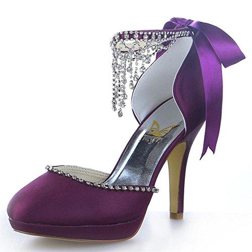 Jia Jia Wedding 3703 Hochzeitsschuhe Brautschuhe Damen Pumps Violett, EU 38