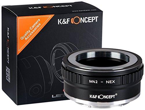 K&F Concept M42-NEX M42 auf Sony NEX Alpha E-Mount Adapter | Adapterring Objektivadapter Kamera Ring Objektiv M-42 Schraubgewinde Screw Mount