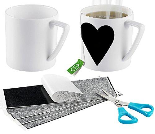 Your Design Tassenfolie: 5x Thermofolie: Für selbst gestaltete Zaubertassen (Tassen selber Bedrucken Zuhause)