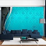 murando - Fototapete 400x280 cm - Vlies Tapete - Moderne Wanddeko - Design Tapete - Wandtapete - Wand Dekoration - Ornament silber schwarz weiß gold blau f-A-0069-a-d
