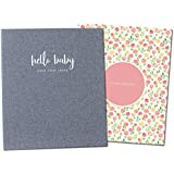Minimalist Baby Memory Book For Girls | Keepsake Milestone Journal | LGBTQ Friendly | 9.75 x 11.25 In. 60 pages | Perfect Baby Shower Gift