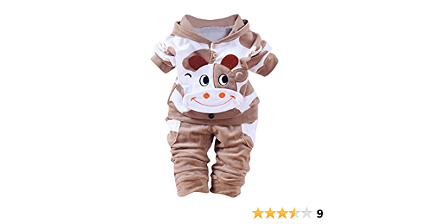 Kobay Neugeborene Baby M/ädchen Jungen Mantel Winter Cartoon Kuh Overall Kapuzen Strampler