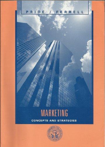 Marketing Concepts and Strategies (Marketing-strategie Ferrell)