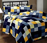 SUNJES Checkered Print Design Polycotton Double Bed Reversible Dohar/AC Dohar/AC Blanket/Blanket