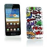 Kit Me Out ES Funda de gel TPU para Samsung Galaxy S Advance i9070 - Multicolor / Blanco Onomatopeyas de cómic