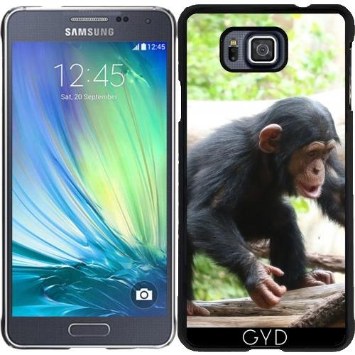 Funda para Samsung Galaxy Alpha   Chimpancé Joven 04 by More colors in life
