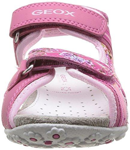 Geox J S Roxanne A, Sandales fille Rose (Fuchsia/Pink)