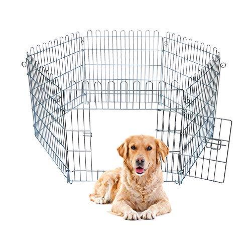 E-starain recinto metallica pieghevole per cani, gabbia in ferro per cani, recinzione per animali domestici, 60x63cm