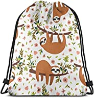 Colorful Oil Cute Schnauzer Dogs Drawstring Backpack Bag Sport Gym Sackpack For Women Men Children