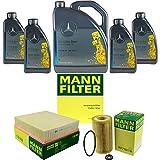 Filter Set Inspektionspaket 9 Liter Original Motoröl 5W-40 MB 229.5 MANN-FILTER Innenraumfilter Luftfilter Ölfilter