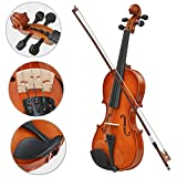 Oypla Full Size 4/4 Acoustic Violin Set With Case, Bow and Rosin