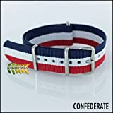 Regimental NATO Strap 20mm Red,White and Blue