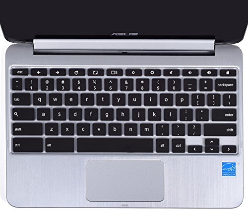 casebuy Ultra Dünn Tastatur Silikon Protector Haut-Cover für Asus Chromebook Flip 25,7 cm Convertible 2 in 1 Touchscreen Laptop US Version (Asus Laptop 2 In Touchscreen 1)
