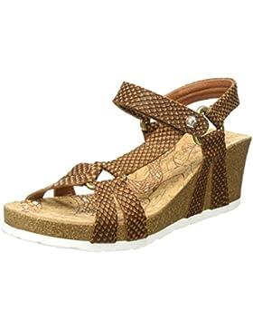 PANAMA JACK Damen Violetta Snake Offene Sandalen mit Keilabsatz