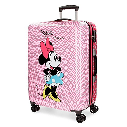 Disney Rombos Valigia per bambini, 69 cm, 70 liters, Rosa