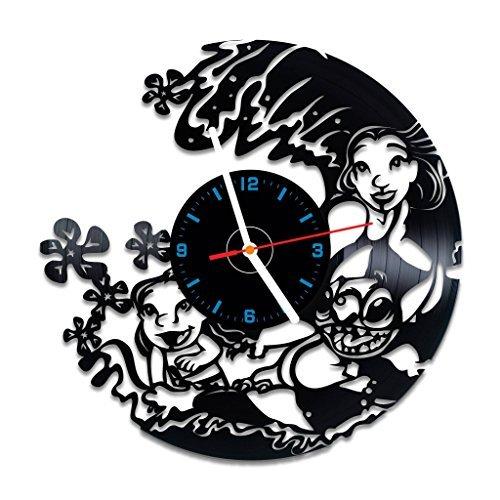 choma Lilo und Stitch Vinyl Schallplatte Wanduhr, Nice Home Decor, Beste Geschenk Idee