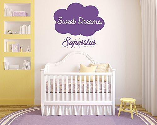 Decorazione Pareti Per Bambini : Sweet dreams superstar. nube adesivo da parete in vinile. murale