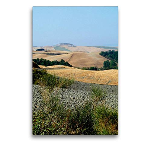 Calvendo Premium Textil-Leinwand 50 cm x 75 cm hoch, Crete | Wandbild, Bild auf Keilrahmen, Fertigbild auf echter Leinwand, Leinwanddruck: In der Toskana Orte Orte - Toskana Ferienhaus