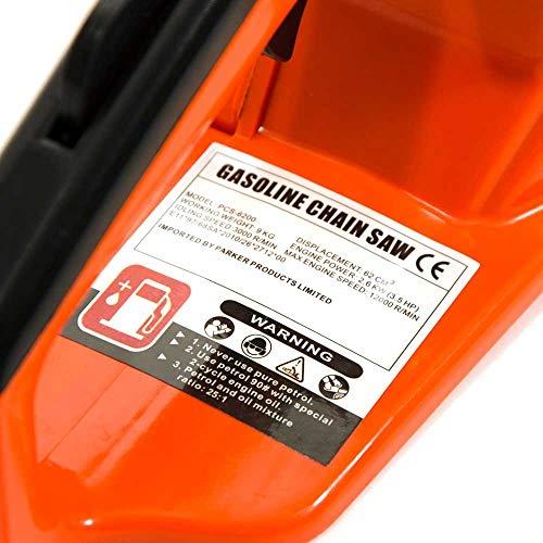 Parker 58cc 20 Zoll Benzin Kettensäge - 9