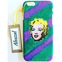 "Funda Iphone 5, 5S, 6, 6S, 6+, 7, 7S,7+ ""Marilyn Monroe"" pintada a mano en modo collage. Apple."