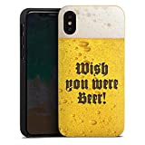 DeinDesign Holz Hülle kompatibel mit Apple iPhone XS Wooden Case Echtholz Handyhülle Bier Beer Oktoberfest