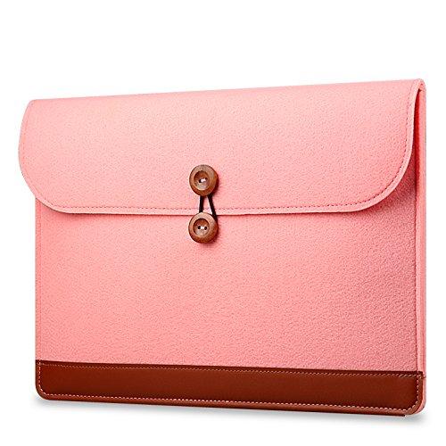 Sleeve-liner (kimtime Umschlag Stil Nähte Laptop Computer Filz Tasche leicht stoßfest iPad Liner Bag Schutzhülle Sleeve MacBook Air Pro 11,61213,339,6cm rosa rose 15.6inch)