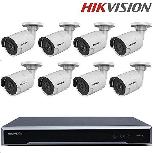 Preisvergleich Produktbild Hikvision Überwachungskamerasystem H.265 NVR DS-7608NI-K2 / 8P Embedded Plug & Play 4K NVR 2SATA 8POE 8CH + Hikvision DS-2CD2085FWD-I H.265 8MP IP Kamera Netzwerk Bullet Kamera + Seagate 4TB HDD (8 Kanal + 8 Kamera)