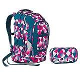 Satch Schulrucksack-Set 2-tlg Pack Pink Crush 9f5 pink polygon