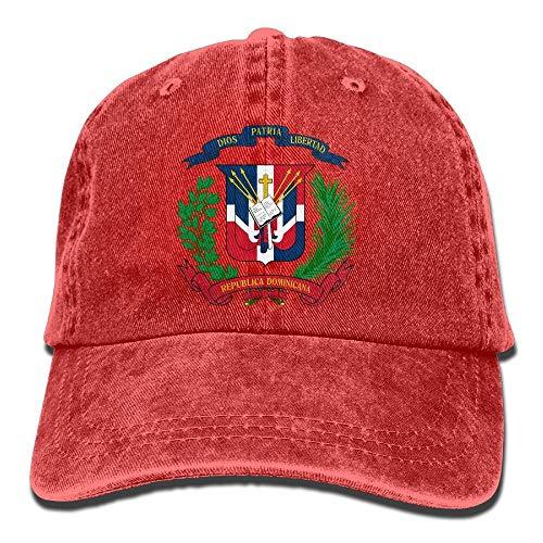 Vidmkeo Dominikanische Republik Denim-Hut einstellbar Womens ausgestattet Baseball Mützen Unisex16 - Womens Denim-baseball-hüte