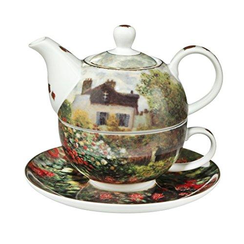 Goebel Teekanne, Claude Monet, Tea for One - Das Künstlerhaus, Kanne, Tasse und Untertasse,...
