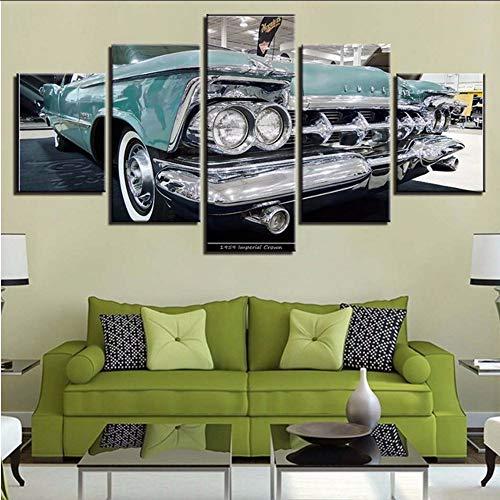Pmhhc Wand Leinwand Vintage Bilder Kunst Zitate 5 Stücke Sport Auto Malerei Poster Modulare Hd Drucke Dekoration Wohnzimmer-20X35Cmx2 20X45Cmx2 20X55Cm