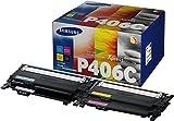 Samsung Toner Kombi-Pack CLT-P406C SU375A Original Schwarz, Cyan, Magenta, Gelb 1500 Seiten