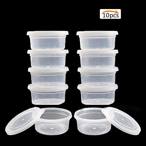 Storage Container Organizer Box, 20Stück Behälter der Kugel der Schaum Kunststoff Boxen Weihnachtskugelset mit Deckel für 20g Slime Snow Mud 10 Clear -