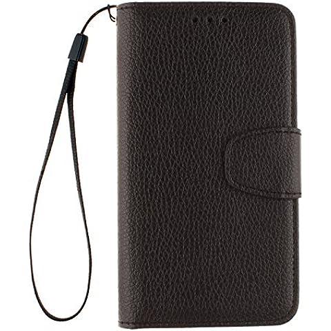 Cozy Hut ® Huawei Ascend Y530 Custodia in finta pelle,[Classic Series] Custodia Cover Case Ultra Sottile Flip Foglio Premium imitare Cassa del Cuoio Genuino Custodia flip cover per Huawei Ascend Y530 - Nero