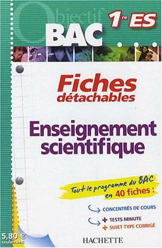 Enseignement scientifique 1e ES par Sophie Lebrun, Patrice Delguel
