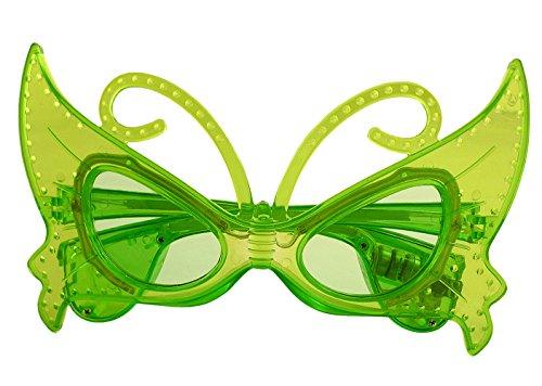 htend Neuheit Schmetterling Brille In Grün - Kostüm auf (Leuchten Neuheit Spielzeug)