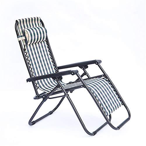 Tabouret Pliant Extérieur Strips Design Chaise pliante réglable Zero Gravity Chaise longue inclinable Fauteuil Heavy Duty avec repose-tête Oreillers Bras ergonomique Repose-pieds antidérapant Terrasse
