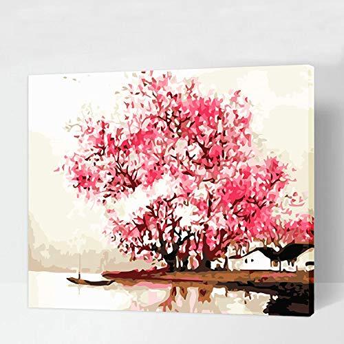 WSNDGWS Tela Dipinta a Mano Soggiorno Decorazione del Paesaggio Entusiasmo Come Decorazione del Fuoco Pittura C5 50x70cm