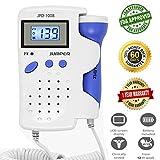 Jumper Medical JPD-100B Approuvé par la FDA,Doppler Foetal Ecoute Bébé avec Ecran LCD Moniteur de Fréquence Cardiaque+ Gel + Batterie,Heartbeat Baby Monitor,Doppler Fetal écoute Coeur bébé Foetal