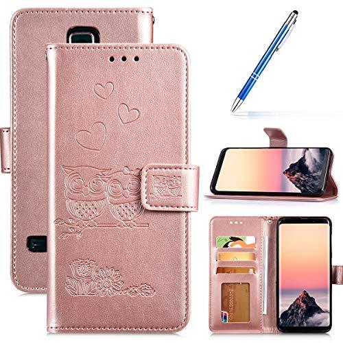 Robinsoni Fundas Compatible con Samsung Galaxy S5 Funda Libro Billetera Carcasa Cuero de PU Funda Folio...