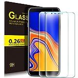 KuGi Samsung Galaxy J4+ Schutzfolie, 9H Hartglas Glas Bildschirm Schutzfolie [Blasenfrei] [HD Ultra] [Anti-Kratzer] Bildschirmschutz Für Samsung SM-J415FN Galaxy J4+ / Für Galaxy J6+ Klar [2 Pack]