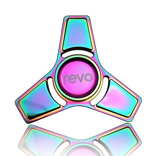 Revo 2 lega di titanio rainbow fidget hand spinner finger