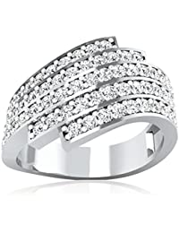 Real Solid 18KT White Gold Hallmarked And Diamond Ring For Women Jewellery (15)