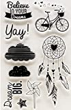 Amoy.B Herbst Regen und Glanz Silikon Transparente Dichtung Party Party Aufkleber Handschriftliche Dekorative Grußkarte Umschlag Aufkleber * 1