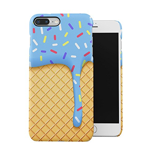 Sweet Candies Lollipops Cupcakes Pattern Apple iPhone 7 Snap-On Hard Plastic Protective Shell Case Cover Custodia Ice Cream Cone