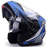 Off-Road Doppel Objektiv Moto Motorradhelme Männer Frauen Full Face Flip Up Motorrad Helm Motocross Schutzkappen für alle Jahreszeiten