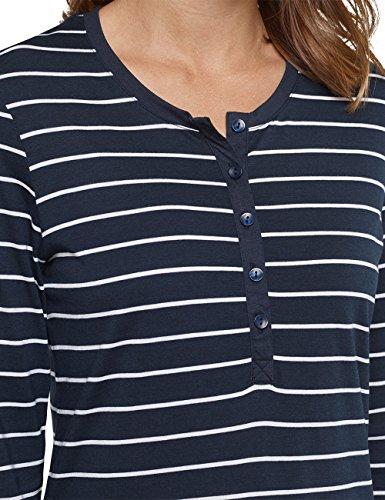 Schiesser, Camicia da Notte Donna Blu (Nachtblau 804)